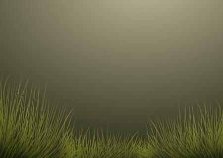 milkyway: Grass on dark green background Illustration