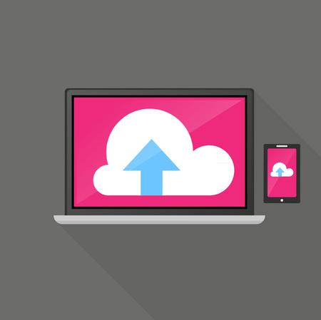 clound: Computer data cloud concept icon