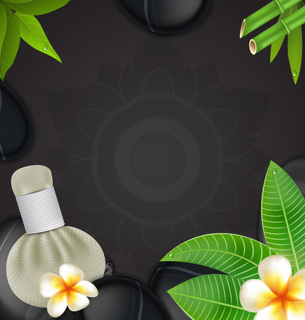 Thai herbs massage spa with compress herbs natural background