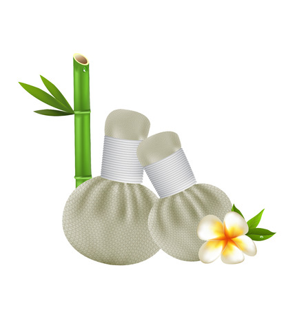 lastone: Thai herbs compress massage spa vector design Illustration