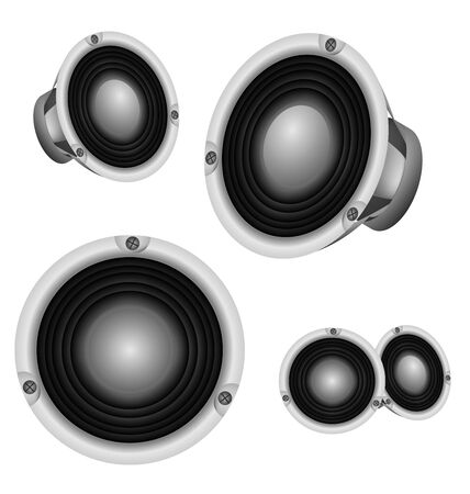 Loud Speaker professional power speaker design. Illustration