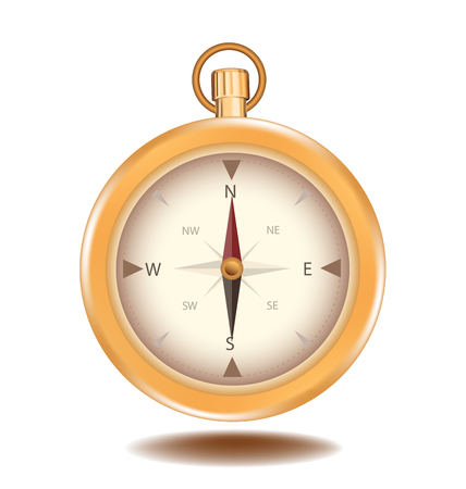 compass vector: Compass vector element object design gold color