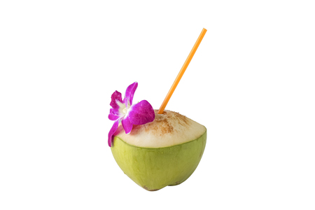 Isolated coconut on with background clean Reklamní fotografie