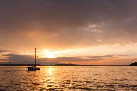 puget: Puget Sound Sunset Stock Photo