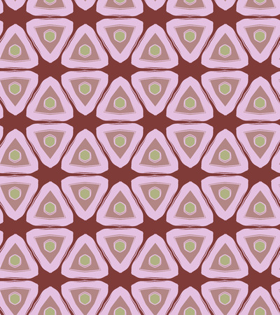 brindled: Violet bright triangle retro colored seamless pattern
