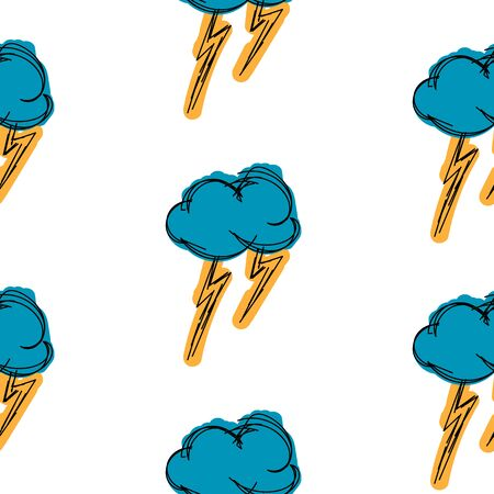 thundercloud: Thundercloud hand drawn is painted simple background seamless pattern Illustration