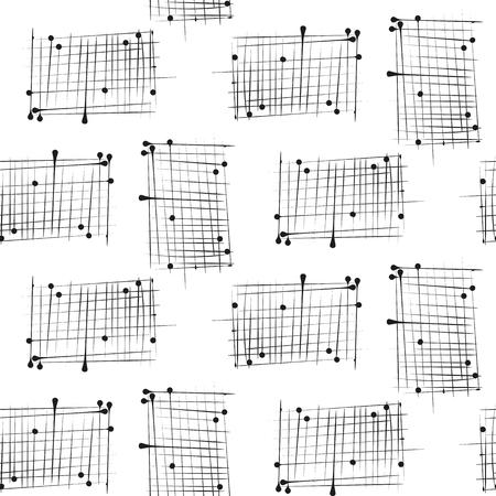 mimic: Dash on white background mimic ink hand drawn seamless pattern