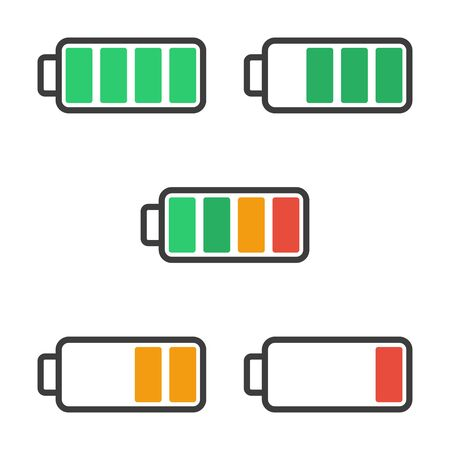 charge: Icon battery with a charge level colored