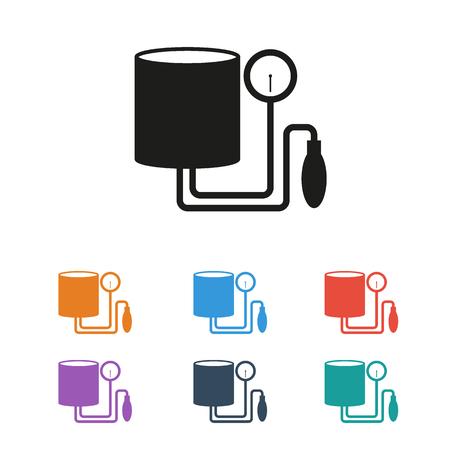 Tonometer Icon. Simple flat metro design style. Outline Icon. Flat design style colored.