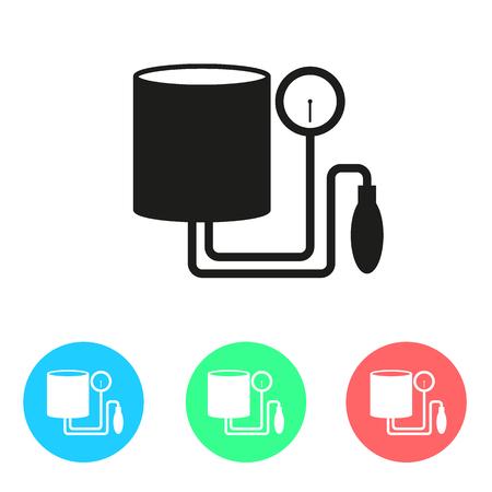 outpatient: Tonometer Icon. Simple flat colored design style. Outline Icon. Flat design style. Illustration