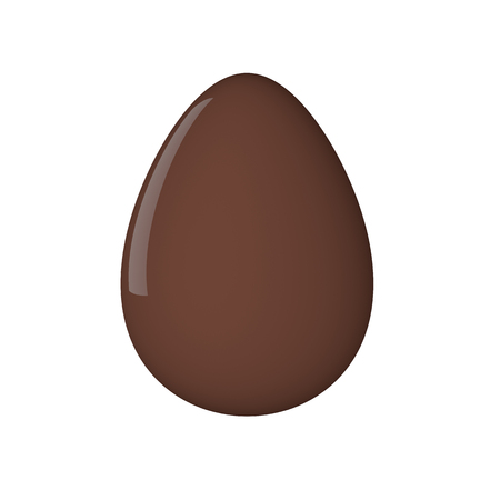 brown egg: Easter egg. Painted. 3D object. Render. Easter Holiday. Brown Chocolate Egg.