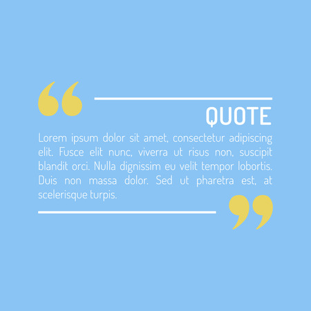sentence: QuotesTemplate in flat style Colored Flat Quotes Vector