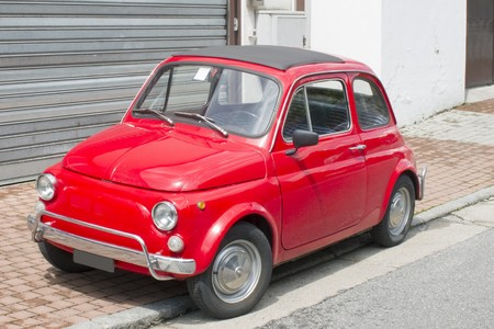 fiat: Old italian car Stock Photo