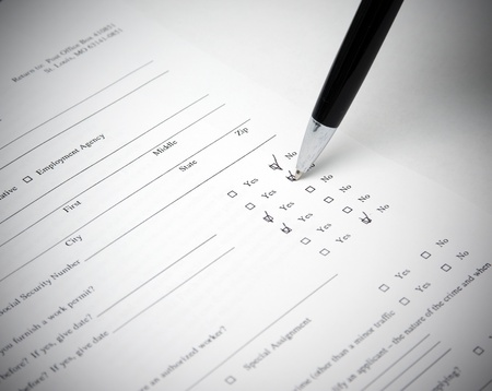 close-up of application and pen Stock Photo - 11178405
