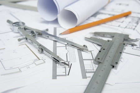 Architekt Werkzeuge für die Planung und flachen DOF