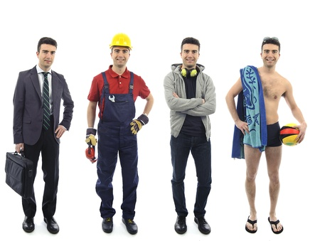 dieselbe Person in verschiedenen Kleider dh unterschiedliche Lebensstile