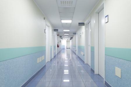 病院インテリア、廊下 写真素材
