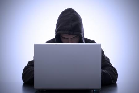 ハッカーと意味のラップトップの安全性データの肖像画