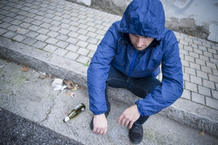 alcohol and man on the street