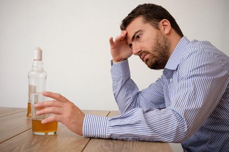 addicted: Man alcohol addicted feeling bad Stock Photo