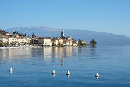 salo: View of Salo town , touristic italian location in Lombardy Stock Photo