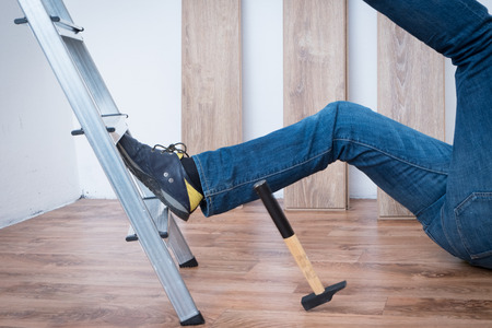 domestic policy: On the job injury of one worker fallen from a ladder