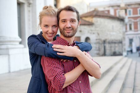 Real couple in love  Stock Photo