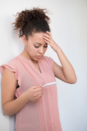 Black woman desperate after reading pregnancy test result