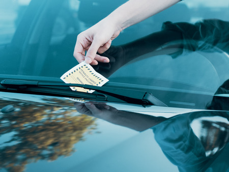 Ticket fine because of parking violation on the windshield