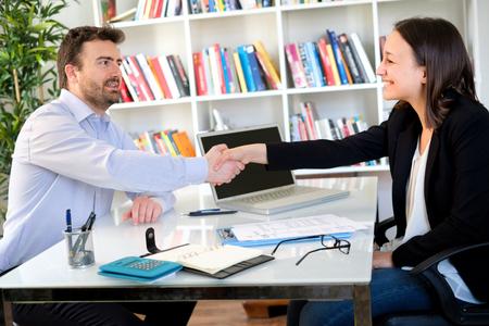 Handshake after good contract agreement