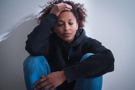 Black girl feeling unwanted abandoned and unloved