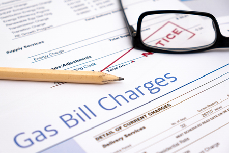 Energy efficiency concept and energy bill papers Banque d'images
