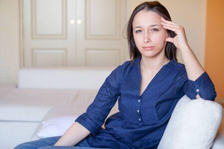 Portrait of sad girl feeling negative emotions