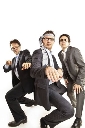 crazy businessmen dancing Stock Photo - 9733313