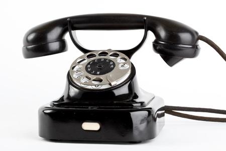 rotary: old vintage telephone Stock Photo