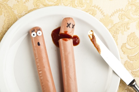 funny picture of murdered hotdog photo