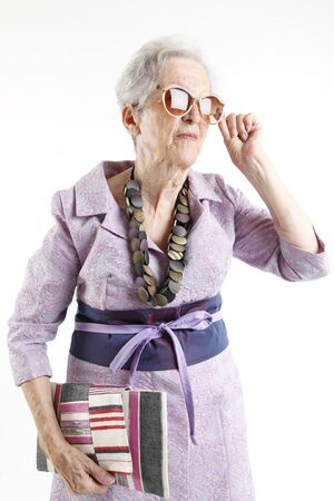 fashion elder lady