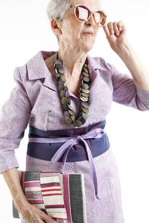 fashion elder lady Stock Photo - 9850985