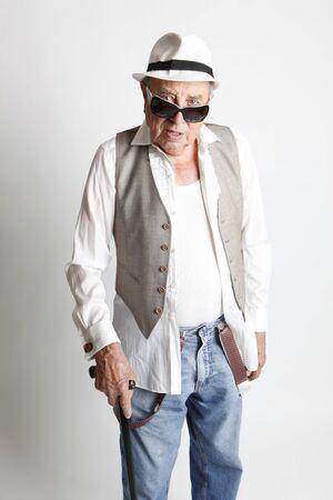 fashion cool elder man photo
