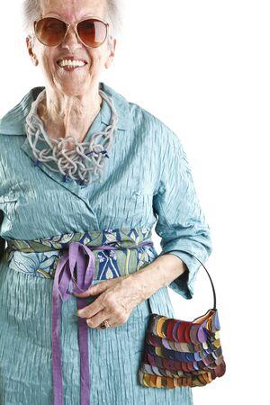shades of grey: fashion elder lady