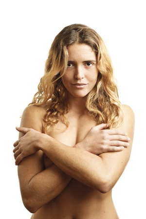 portrait of beautiful nude young woman with blond hair Stock Photo - 9842542