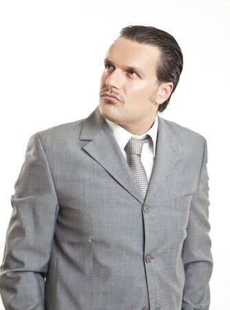 portrait of a cool elegant young man photo