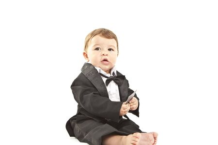 dinner jacket: cute little baby with dinner jacket