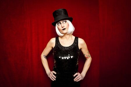 cabaret performer on stage photo