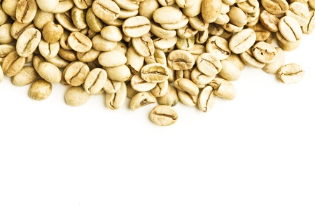 green bean: green unroasted coffee beans