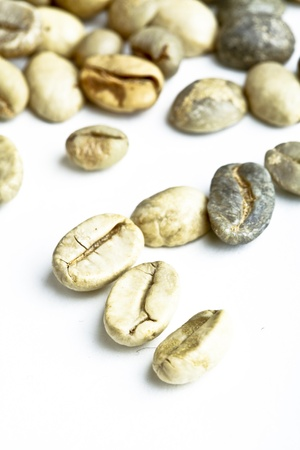 green unroasted coffee beans Stock Photo - 9839955