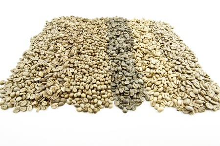 green unroasted coffee beans photo