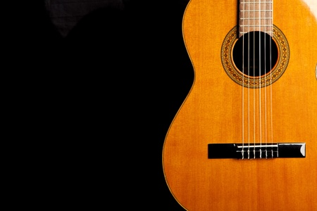 spanish classic guitar Stock Photo