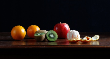 classic fruits still life