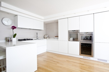 zeitgenössische Küche Standard-Bild